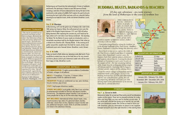 Brochure design, catalogo viaggi